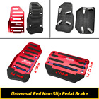 2pcs Non-slip Automatic Gas Brake Foot Pedal Pad Cover Car Accessories Red Parts
