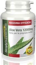 Aloe Vera 12.000mg 180 cpr Lenisce le infiammazioni dell'apparato digerente E593