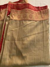 Handloom Silk Blend Unique Sari Zari Border Pallu Rare Color Combo DIWALI SARI