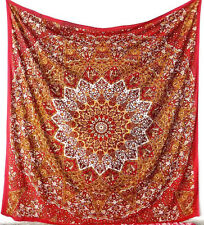 Psychedelic Indian Tie Dye Star Mandala Hippie Wall Hanging Tapestry Queen Size