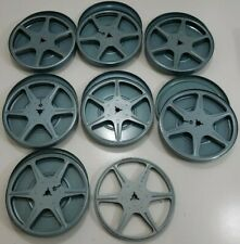 """Lot of 7 Vintage Assorted Metal 8mm Film Reels & Cases Canisters 5"""""""