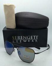 SERENGETI PHOTOCHROMIC Polarized Sunglasses Aerial 8205 Gunmetal Frame Blue Lens