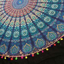 Indian Beach Mandala. Indian Table Cloth. Mandala Tapestry.