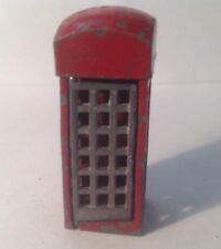 Charbens Telephone Box   (my Ref Grey 205) Damaged As Door Won't Stay On