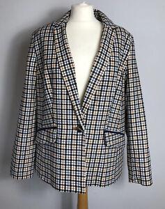 TU Size 18 Country Cream Check Blazer Jacket Smart Autumn Winter Ladies