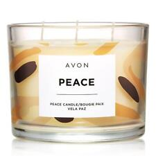 "AVON Home Fragrance 3 Wick Candle ""PEACE"" Cotton, Jasmine, Rose,  & Musk"