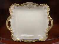 """HUTSCHENREUTHER Selb Bavaria Germany SQUARE Handled CAKE PLATE SERVING DISH 11"""""""