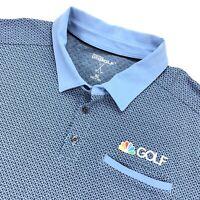 NBC Golf Channel Men's Sketchers Performance Pocket Polo Shirt Blue • XL