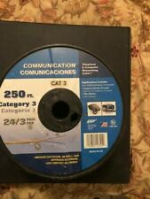 CCI 24/3 Pair CAT 3 Communications Cable Wire 250 ft Beige-Made in USA