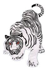 aa69 Tiger Weiß Katze Königstiger Aufnäher Bügelbild Applikation 9,7 x 15,2 cm