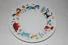 RARE Mid Century Tirschenreuth Bavaria Germany Child Plate Pasco Cats Cows Horse