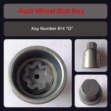 "Genuine Audi Locking Wheel Bolt / Nut Key 814 ""Q"" 17 Hex"