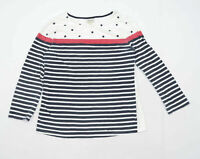 Heyton Womens Size 12 Striped Cotton Multi-Coloured Long Sleeve T-Shirt (Regular