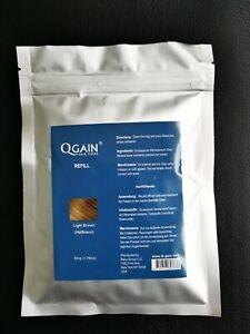 Qgain Hair Fibres refill bag 50g  Light Brown
