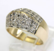 Anillos de joyería con diamantes brillantes de oro amarillo diamante