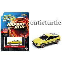 Johnny Lightning 50th Anniversary 1990 Honda CRX 1:64 Yellow JLCP7201
