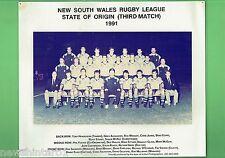 #T102. 1991 GAME 3 NSW ORIGIN TEAM  RUGBY LEAGUE  PHOTO