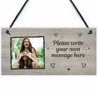 Personalised Rock Slate Photo Gift with stands free p/&p aprox 19x19 square