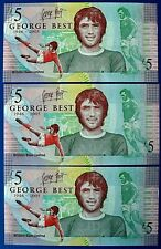 More details for ulster bank 2006 x 3 consecutive issue £5 five pound notes (george best)  ch1479
