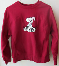 Disney Store101 Dalmatians Puppy Dogs Top Sweatshirt Kids Large Maroon