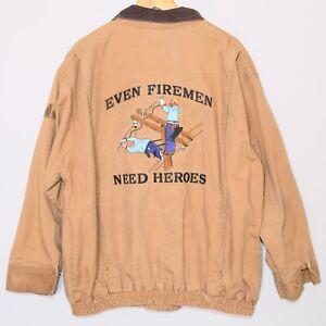 BULWARK Protective Apparel Flame Resistant Tan Brown Jacket Men's Size 3XL 🔥