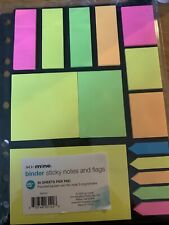 Sticky Notes Page Markers 3 Ring Binder Pack 15 pc 30 Sheets  per Pad