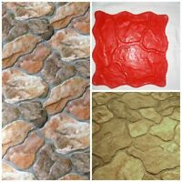 Stone Decorative Concrete Cement Imprint Texture Stamp Mat Silicone Stamping