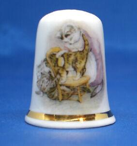 Birchcroft China Thimble -- Beatrix Potter - Tabitha Twitchit -  Free  Gift Box