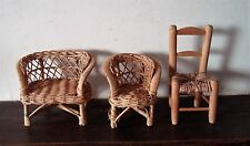 lot de 3 petit meuble pour Teddy Bear ou doll (Barbie )Chaire Vintage