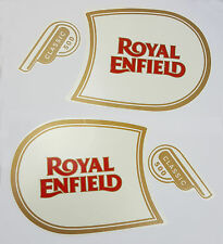 ROYAL ENFIELD CLASSIC 500 FUEL TANK & TOOL BOX STICKER LOGO BADGE MONOGRAM WHITE