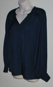 Witchery long-sleeved navy top Size 10