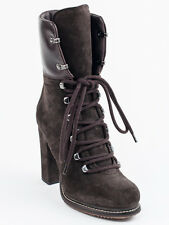 New  Moncler Dark Brown Suede Booties Size 40  US 10