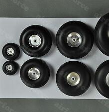 1 pair of 2.5inch/63.5mm PU wheel with Dia-Casting Aluminum Hub RC Plane Wheel