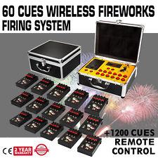 60 Cues Fireworks Firing System W/1200 Channel Multifunctional Wedding Digital