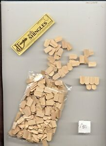 HALF SCALE SHINGLES FISHSCALE  1:24 Dollhouse roof  wooden  #H7005