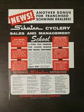 Vintage 1967 Schwinn Cyclery Bicycle Company Full Page Original Ad