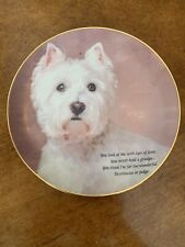 The Danbury Mint Eyes Of Love Westie Terrier Limited Ed collector plate A4270