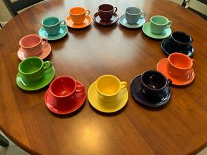 vintage fiestaware cup and saucer