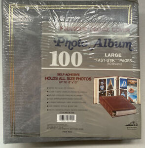 "NEW Vintage Gray Pioneer Deluxe Cover TR-100 8""x10"" Grey 100 Photo Album"