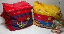 Pair Vinyl Childrens knapsacks / lunch bag ADI
