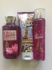 Bath & Body Works Paris Shower Gel Body Cream Fragrance Mist Free Shipping