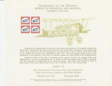 1973 Bep souvenir card B 25 Napex - 1918 24¢ airmail stamp