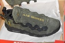 11.5 Nike Air More Money US Dollar Sequoia Currency Gold Black Green AJ7383 300