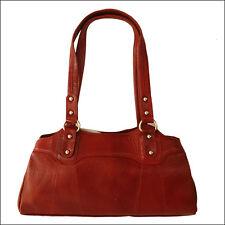 Women Handbag Genuine Leather Brown Ladies Purse Shoulder Bag Mother's Day Gift