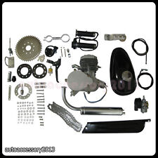 80cc 2-Stroke Motor Engine Kit Gas for Motorized Bicycle Bike Engine Silver