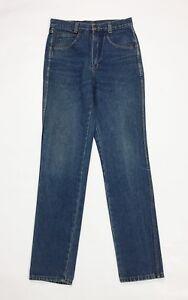 Casual jeans uomo usato vita alta w30 tg 44 gamba dritta slim boyfriend T4028