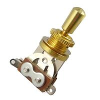 Gold Electric Guitar 3 Way Toggle Switch Pickup Selector Switch with Brass L8K5