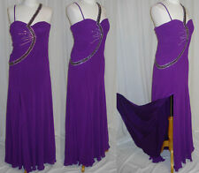 UNIQUE PROM COCKTAIL DRESS HOMECOMING EVENING FORMAL GOWN  Purple XL Fit 12
