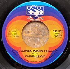 ARKANSAS BLUES HIT 45: CALVIN LEAVY Cummins Prison Farm/Brought You to the City