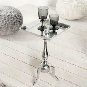 Handmade & Polished Square Side Table 55cm H x 35cm W x 35cm D ***RRP 106.99***